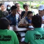 para pelaku desa wisata se-Jateng belajar memberikan pelayanan kepada wisatawan di desa Panusupan